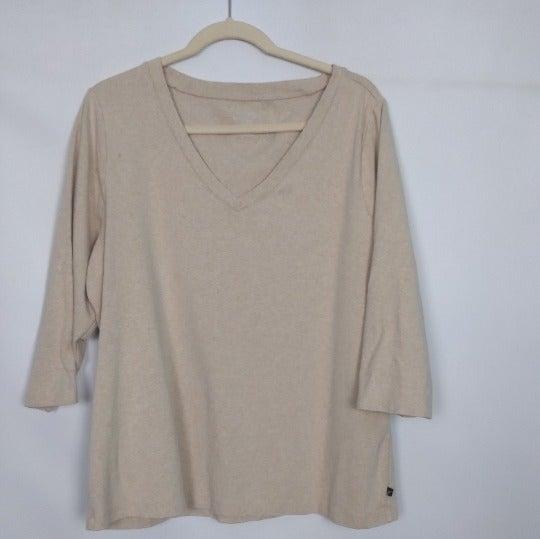 Venezia Womens V-neck 3/4 Sleeve Shirt