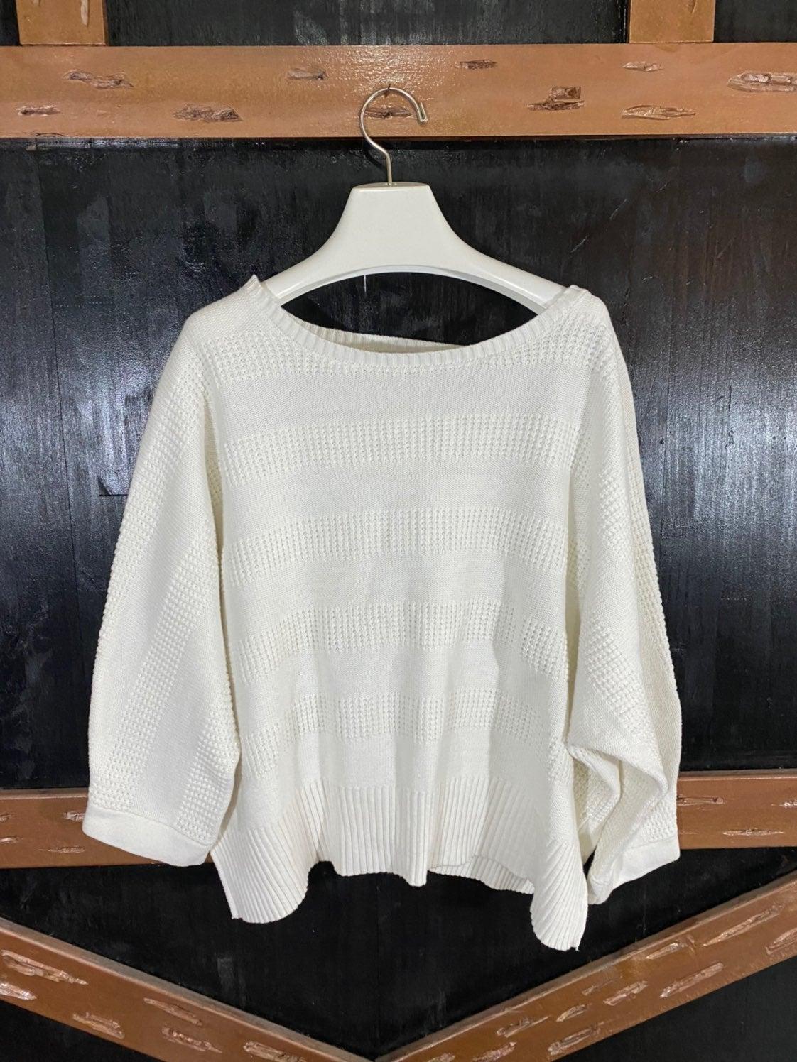 3x Liz Claiborne white Sweater