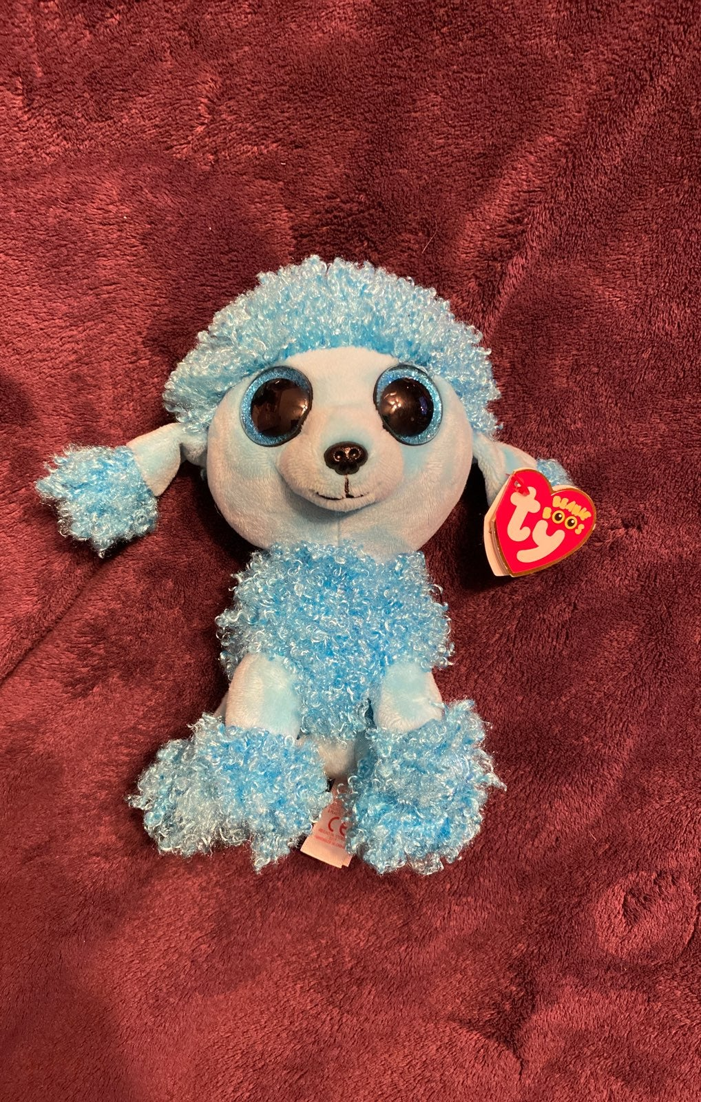 Ty Beanie Boo mandy blue poodle