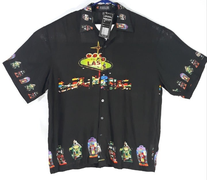Ferugini Men XL Las Vegas Casino Shirt