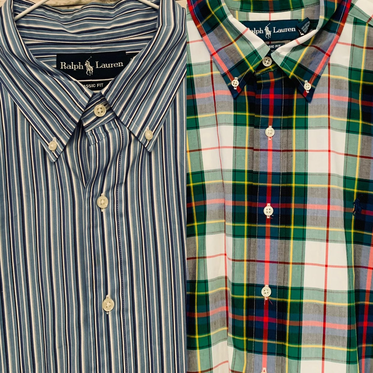 2 ralph lauren classic fit shirts XL