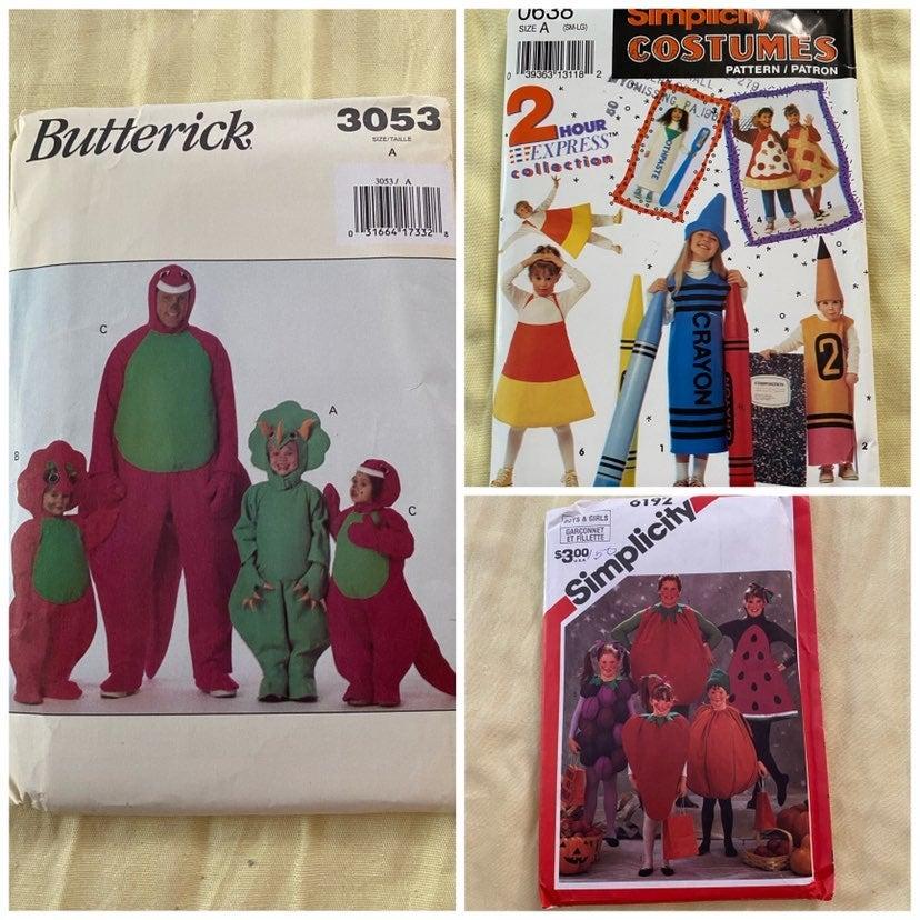 Lot of 3 Kids Costume Patterns