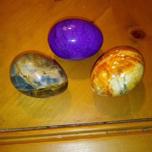 Stone Eggs lot of 3