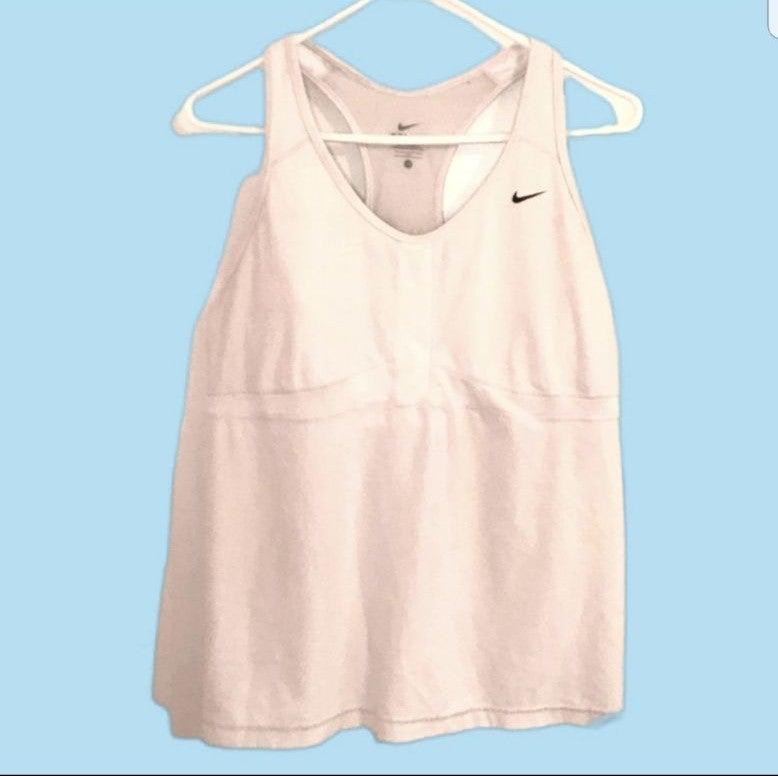 Nike Racerback Workout Tank Top White