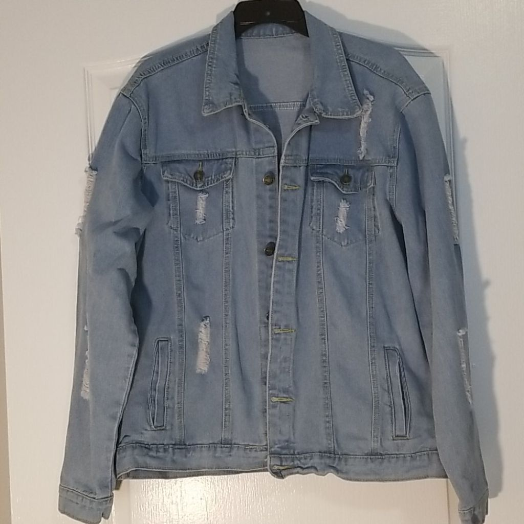 New Mens, Stretch Jean-Jacket, Large