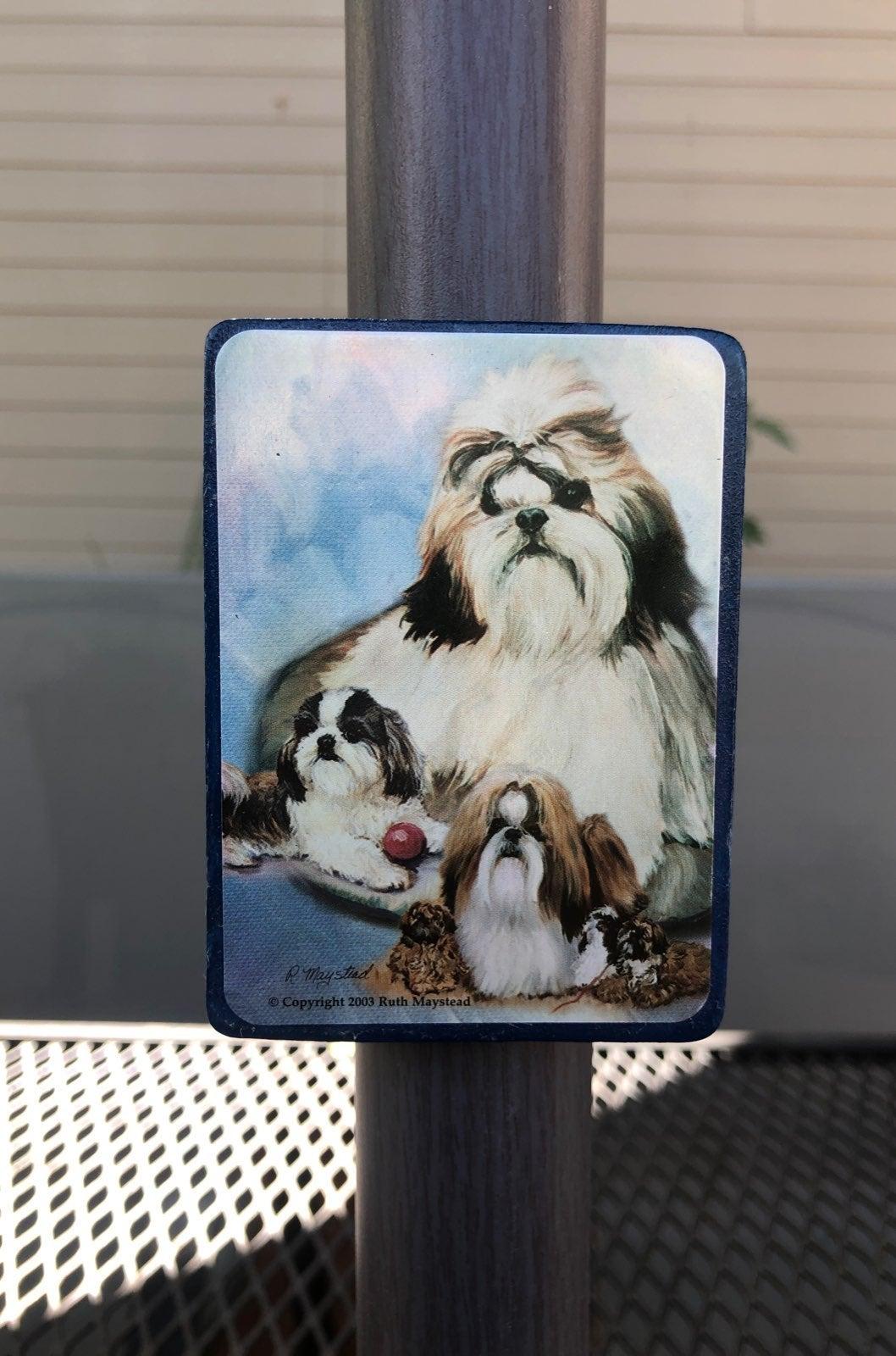 Shih Tzu Dog Wood Magnet