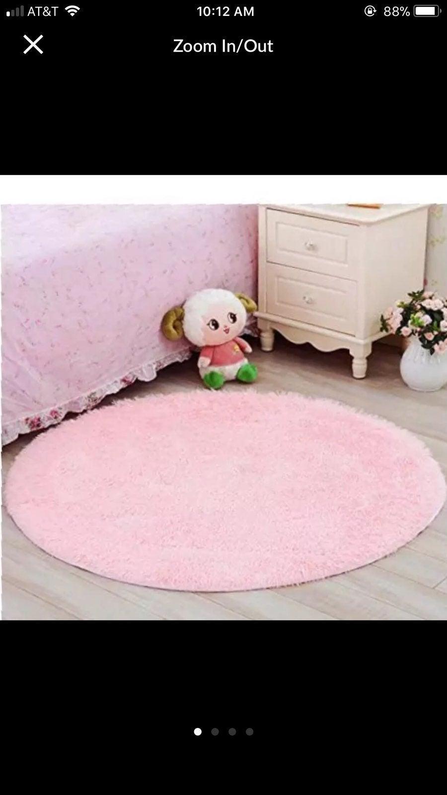 """Round Pink Rug 42"""""""