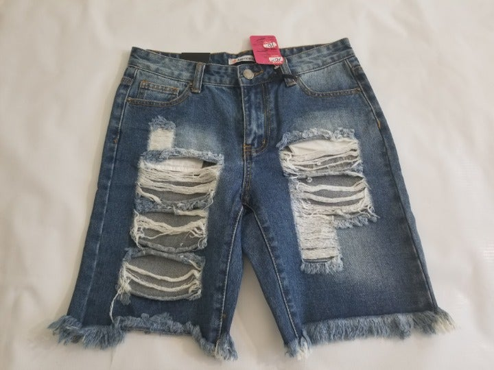 American Bazi Distressed Shorts Small