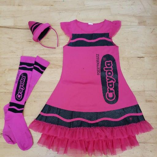 Girls Pink CRAYOLA Crayon Costume Size 8