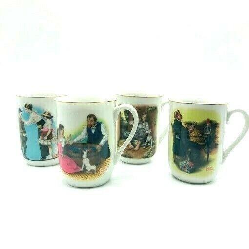 Vintage Norman Rockwell Ceramic Cups Mug