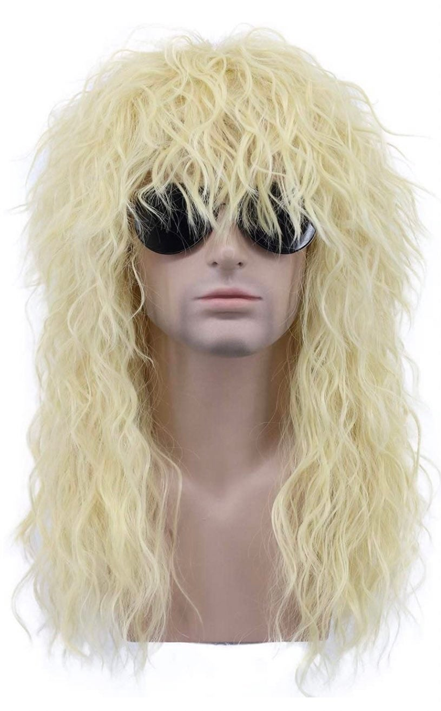 Heavy metal rocker wig synthetic