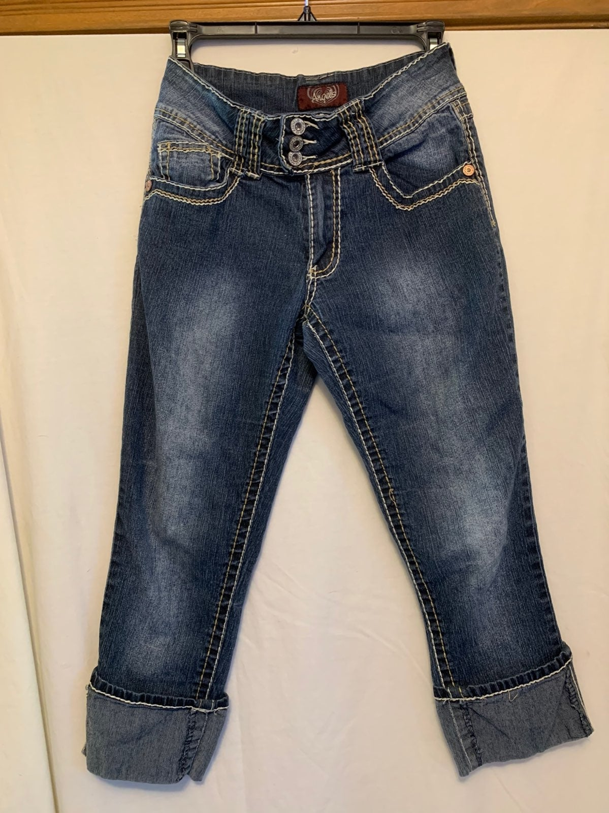Angels Cropped Cuffed Jeans Size 6