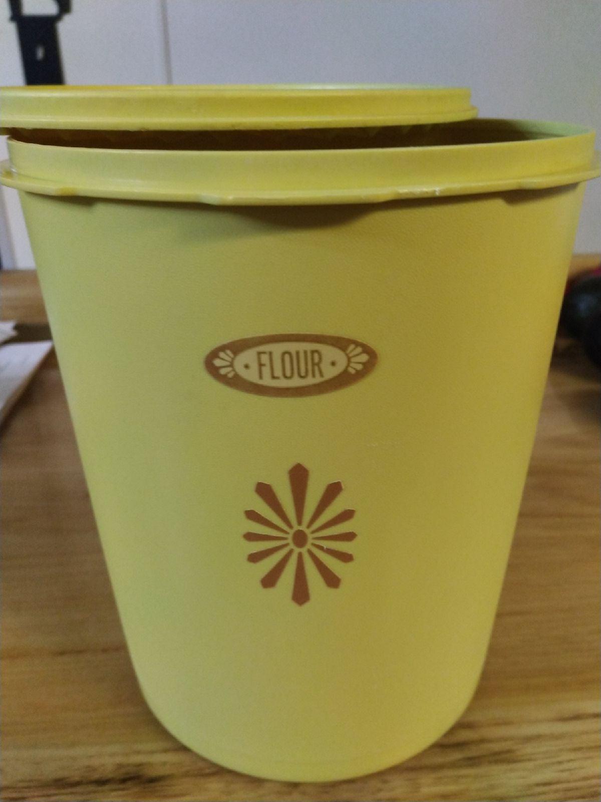 Vintage Tupperware flour container