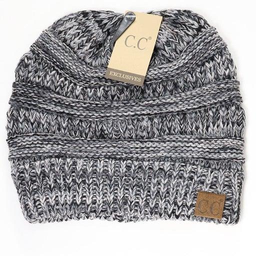 CC CLASSIC Knit Beanie Hat (Blk/Grey)