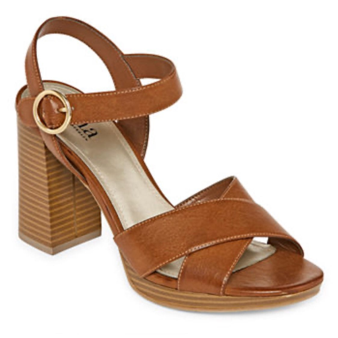 New a.n.a. Brown Heeled Sandals.
