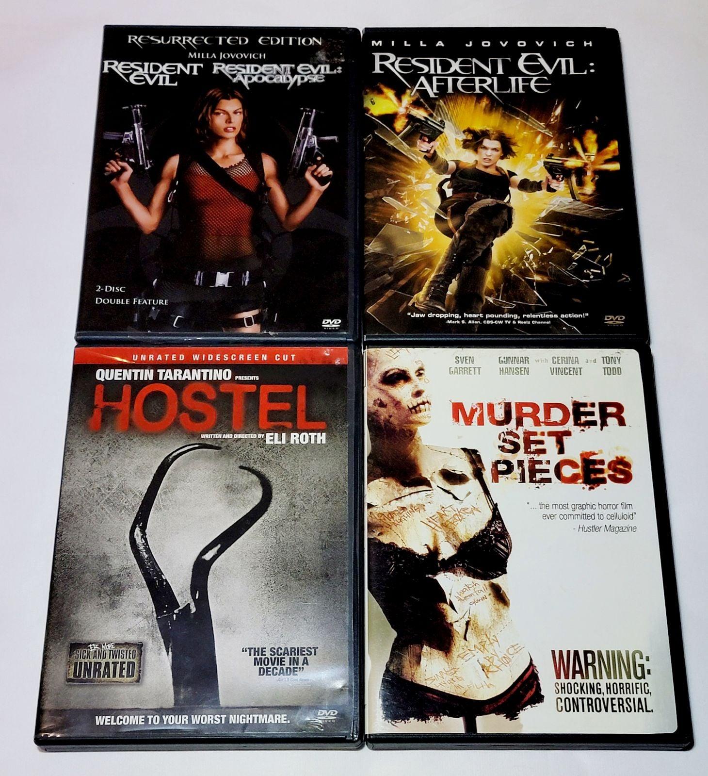 Murder Set Pieces, Hostel, Resident Evil