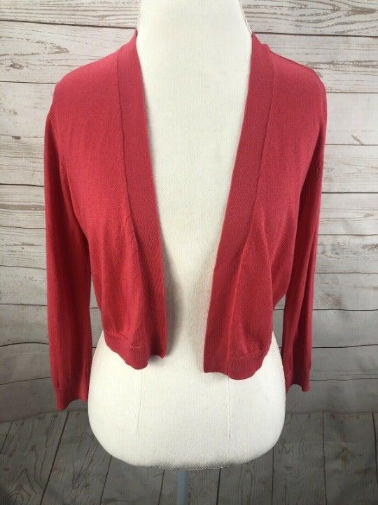TALBOTS Pink Shrug Bolero Sweater M