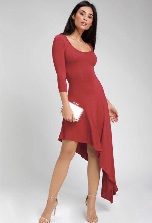 Lulu's asymmetrical Red Dress