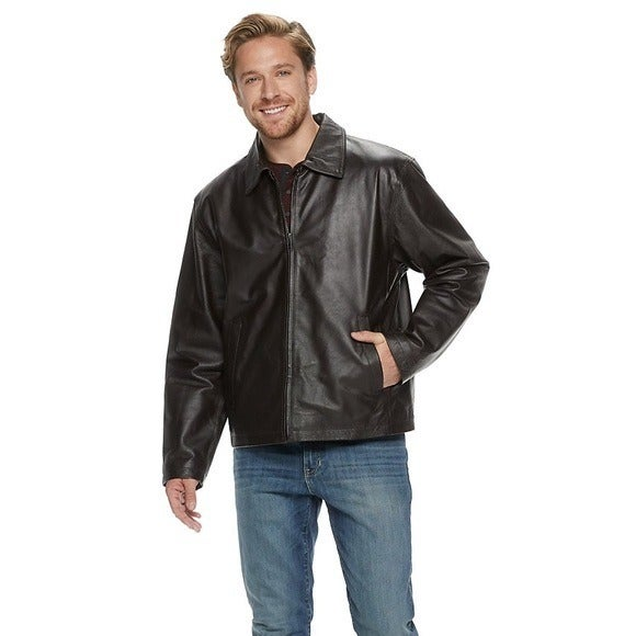 John Ashford mens vintage leather jacket