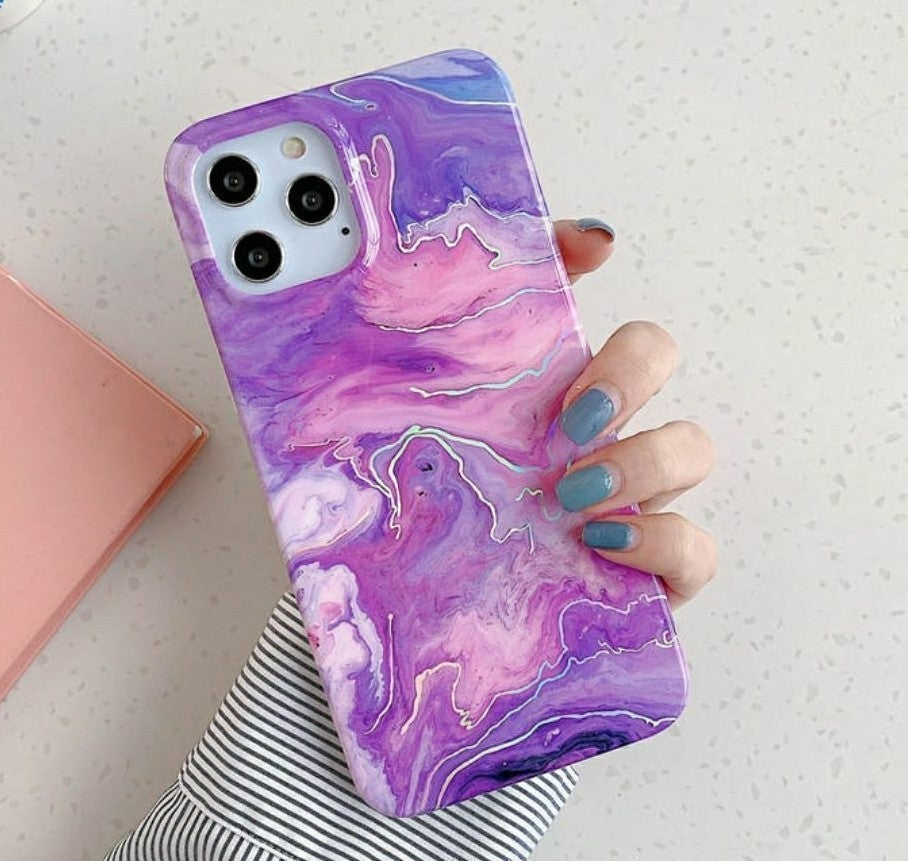 Iphone 12 Pro, 12 case Marble Shockproof