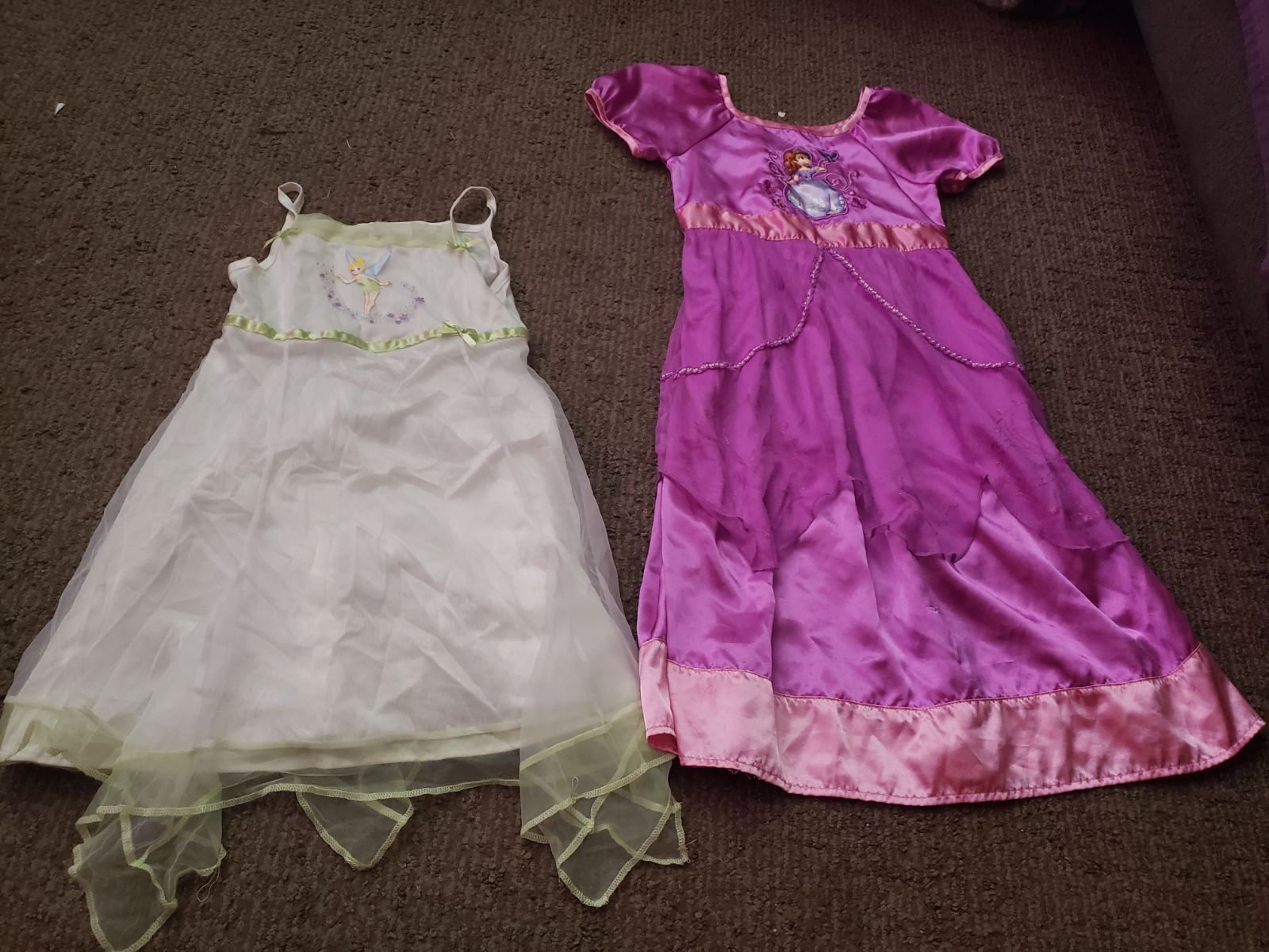 2 toddler disney store night gowns