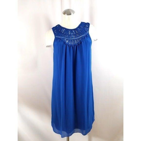 Max Studio Size S Blue Sleeveless Dress