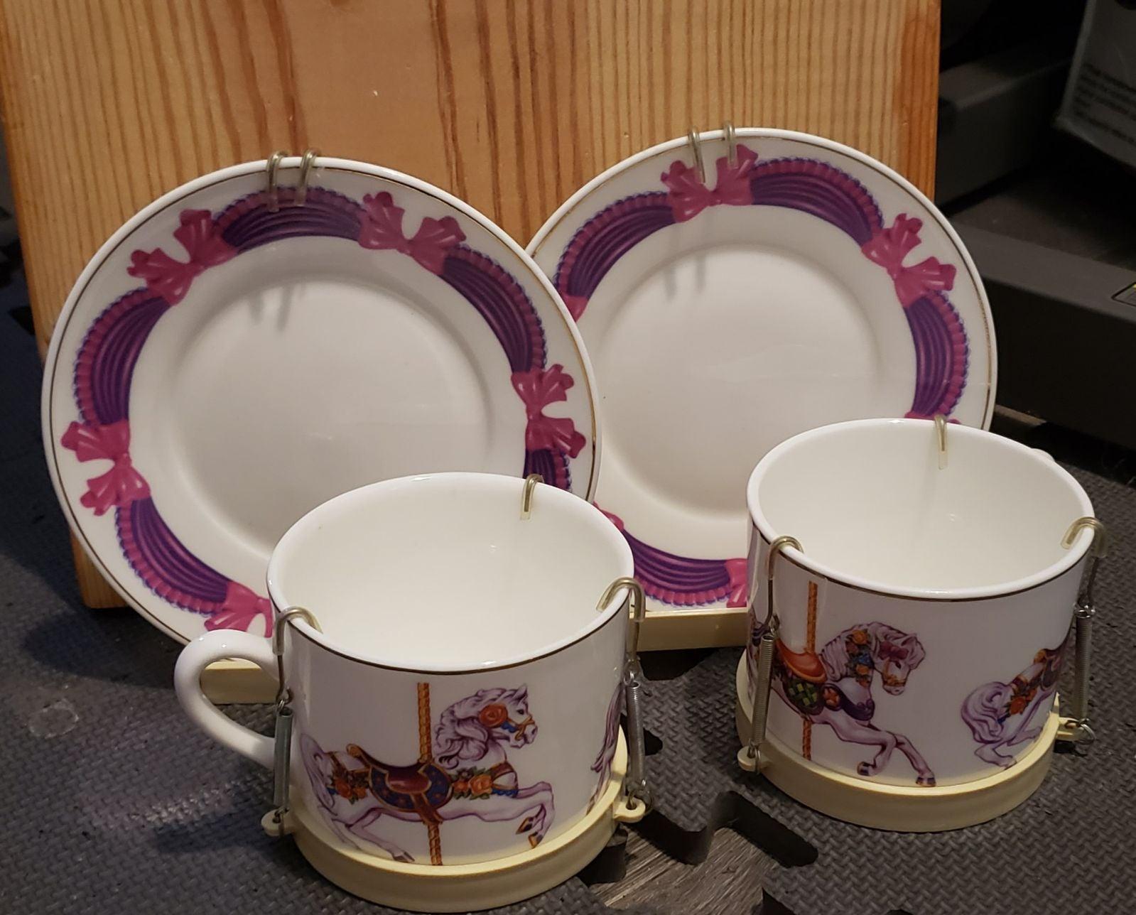 Vintage Carousel horse tea set