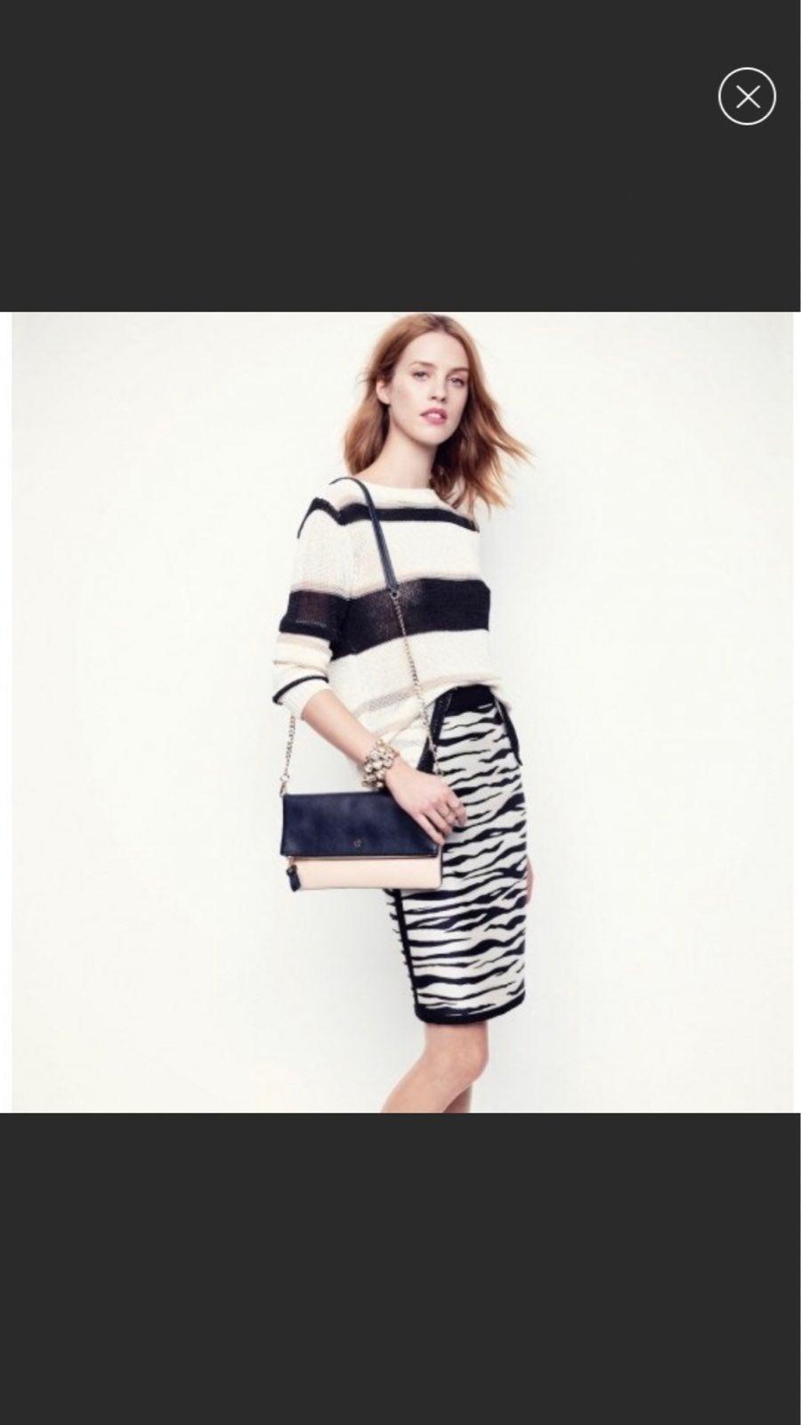 Ann Taylor Zebra Print Pencil Skirt