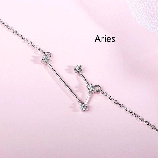 NEW 925 Silver Zodiac Aries Bracelet