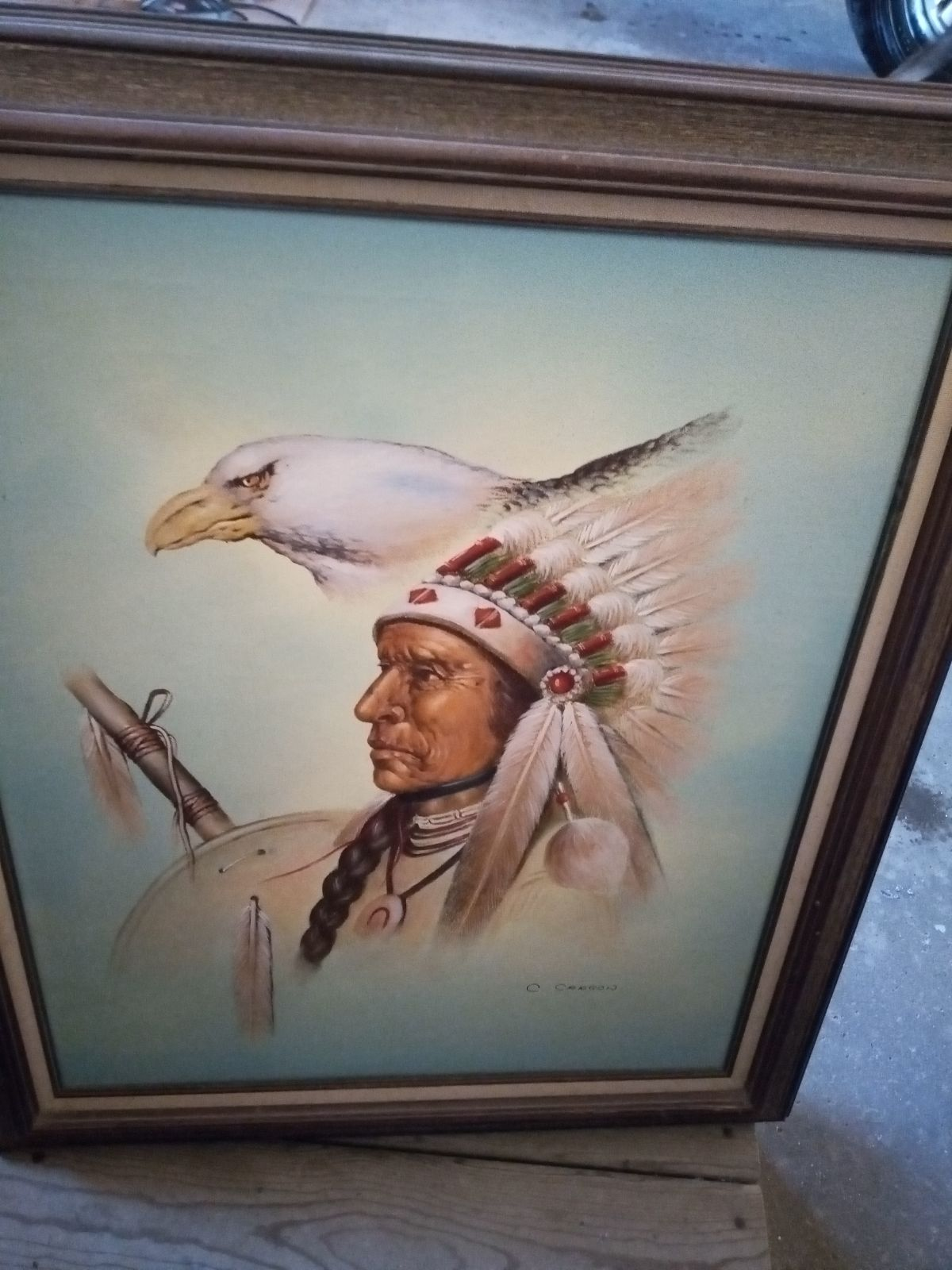 Native American Canvas Paintings