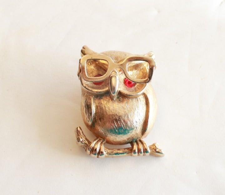 Sarah Coventry Owl Brooch PIn