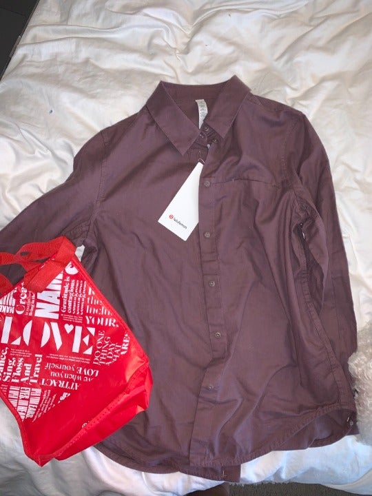 NWT Lululemon Full Day Ahead Shirt 6