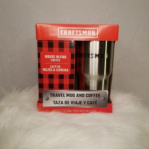 Craftsman Travel Mug + Coffee Set