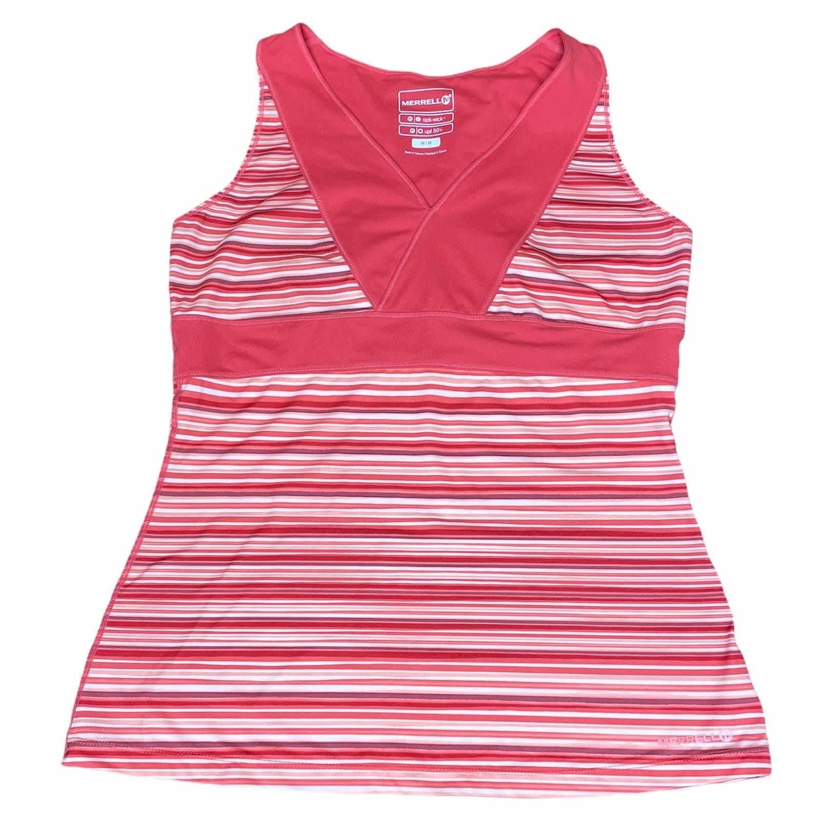 Merrell Striped Yoga Top Size Medium