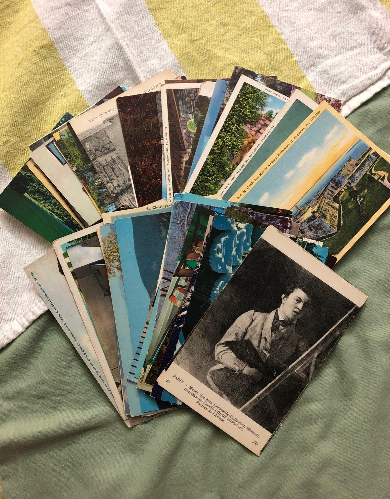 Vintage Postcard Lot 1930s-1980s