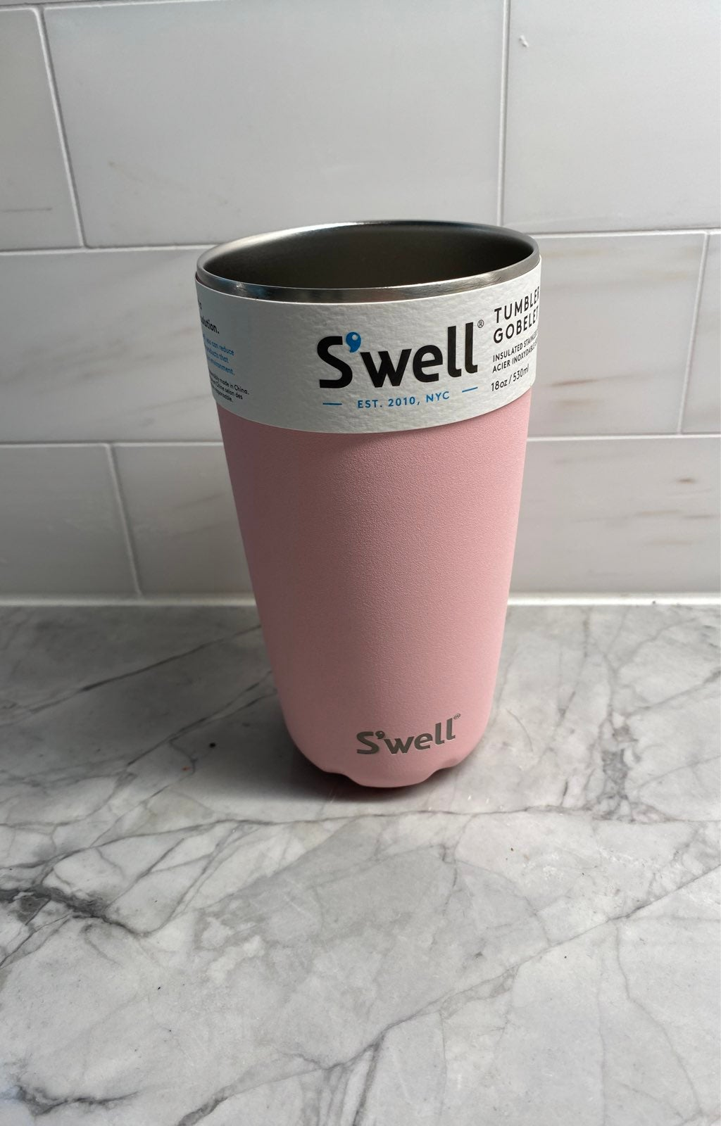 NWT Swell tumbler gobelet pink