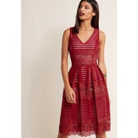 d8294c769d4 NWOT ModCloth Red Lace Dress 3X