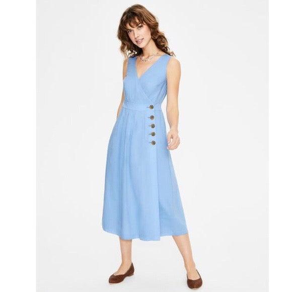 Boden Arwen Midi Dress Hazy Blue