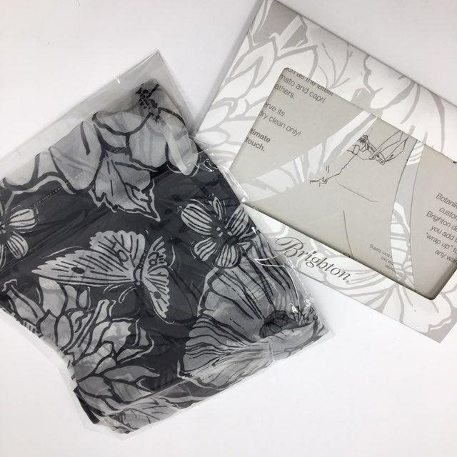 Brighton NWT 100% Silk Scarf Floral