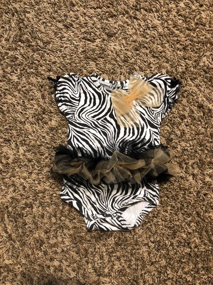 Baby Girl Zebra Onesie 9m