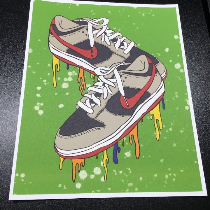 Nike Dunk Low Samba Art Print