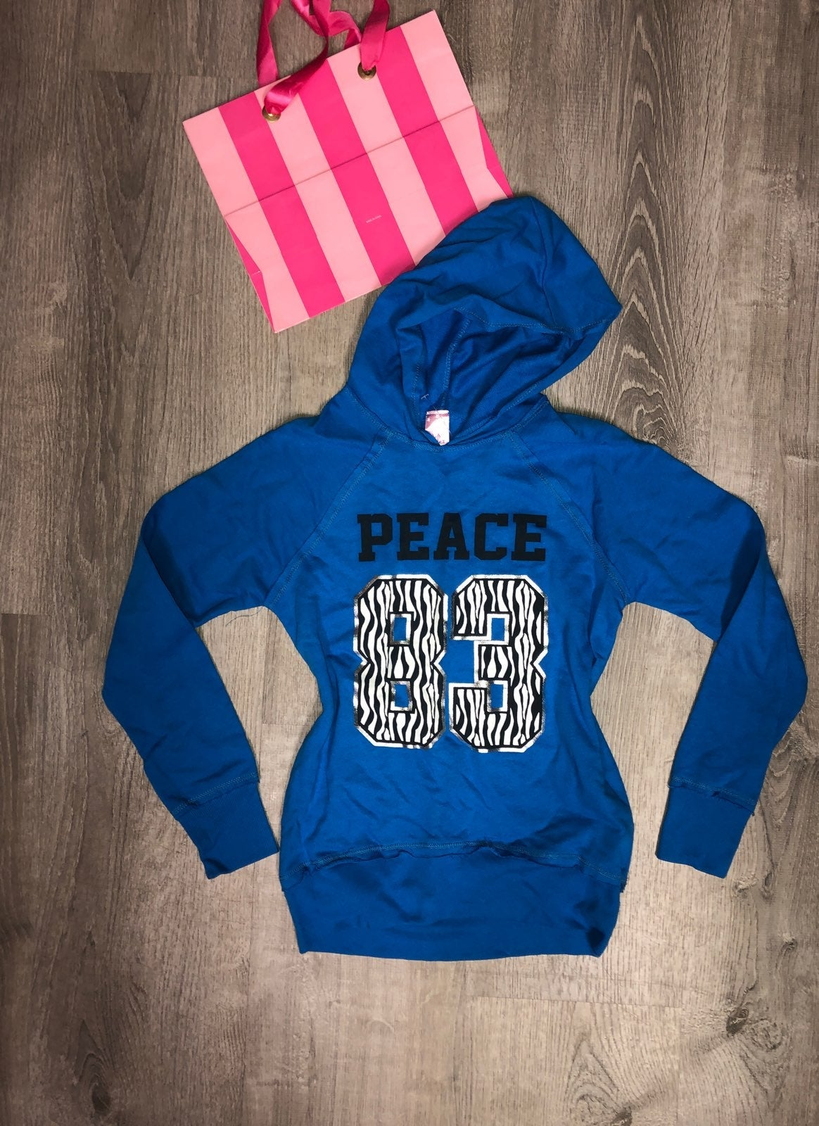 Girls Metallic Peace Hoodie
