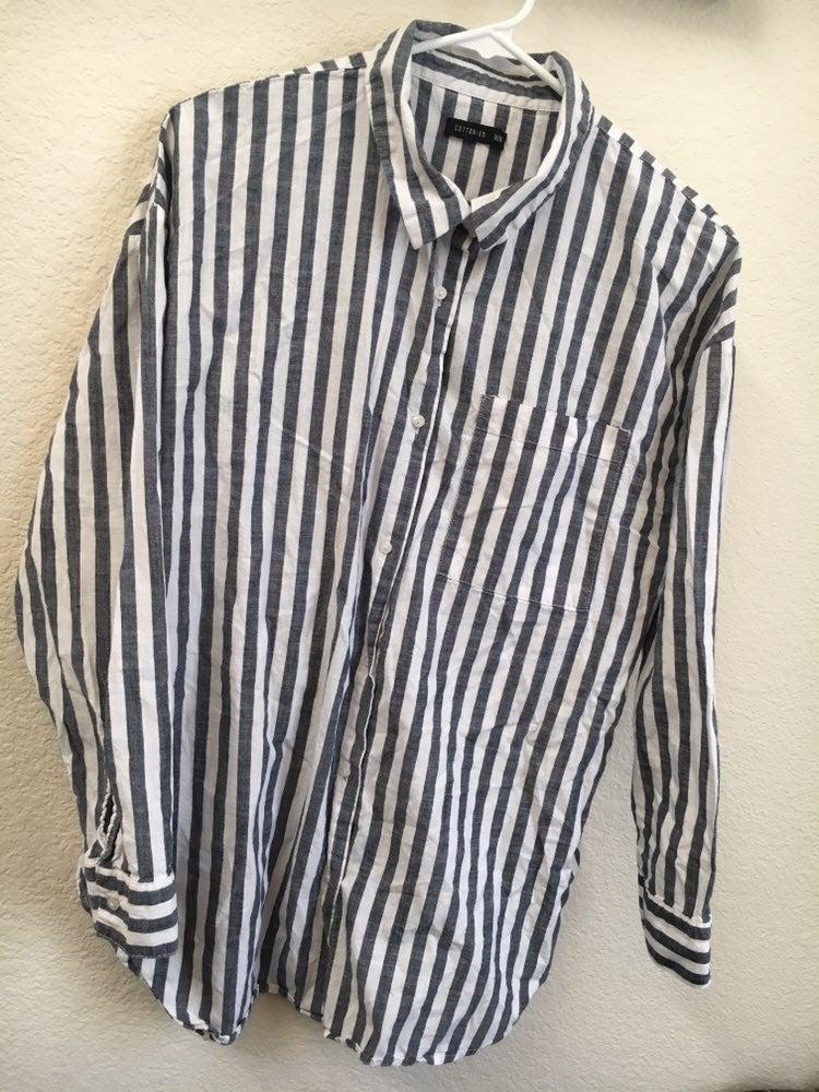 Women's striped button up shirt