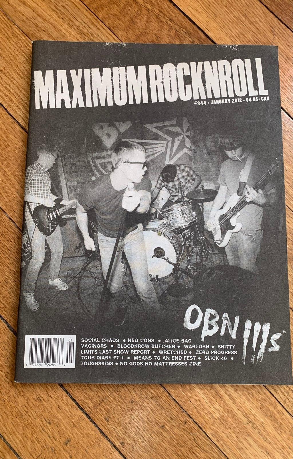 Maximum RocknRoll Zine #344 Jan 2012