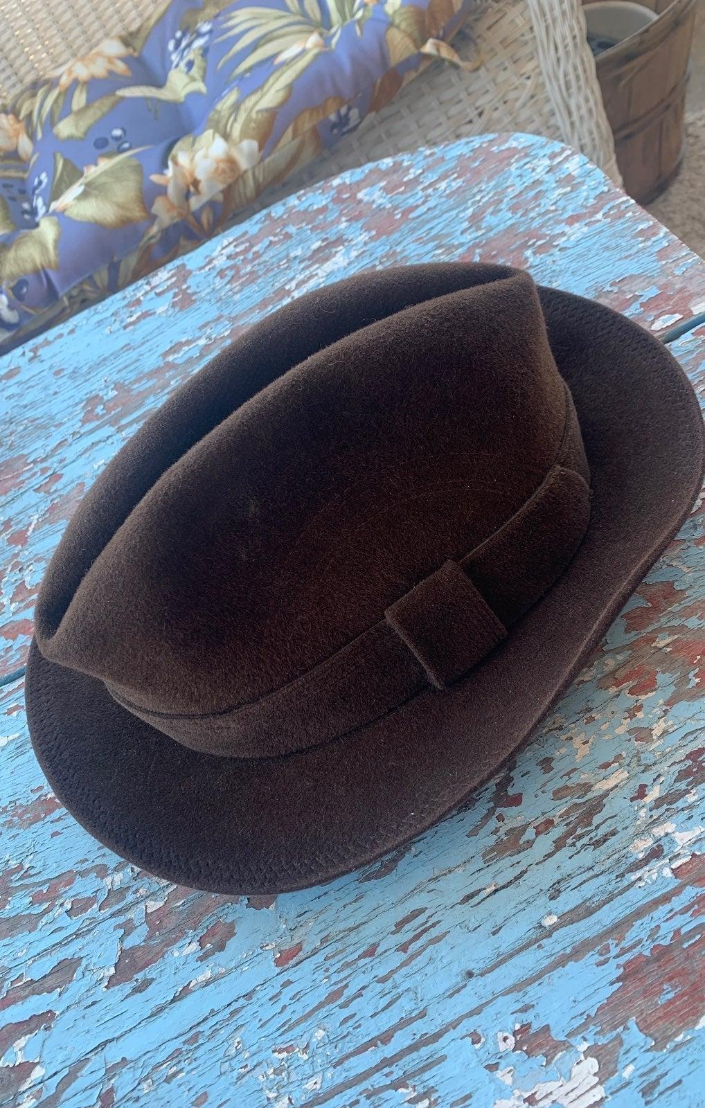 Brown Borsalino Men's Hat Fedora