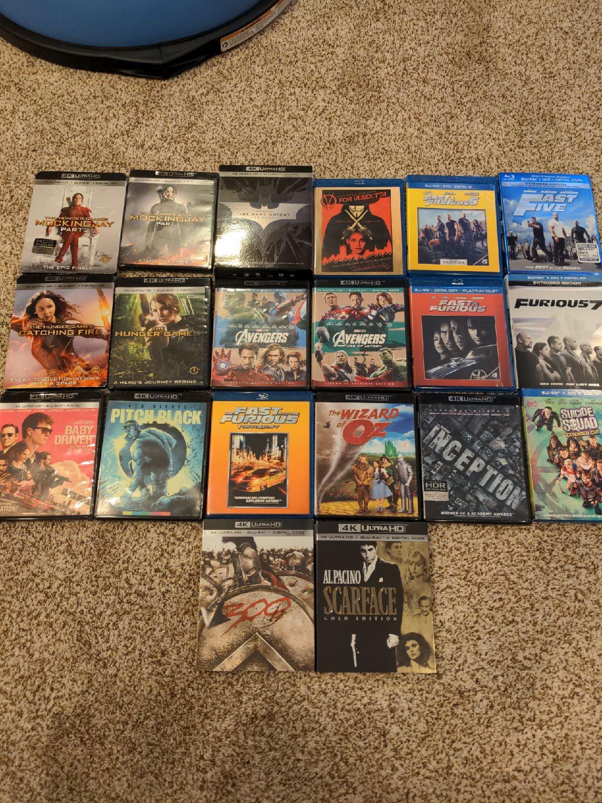 Blu-Ray Movie lot