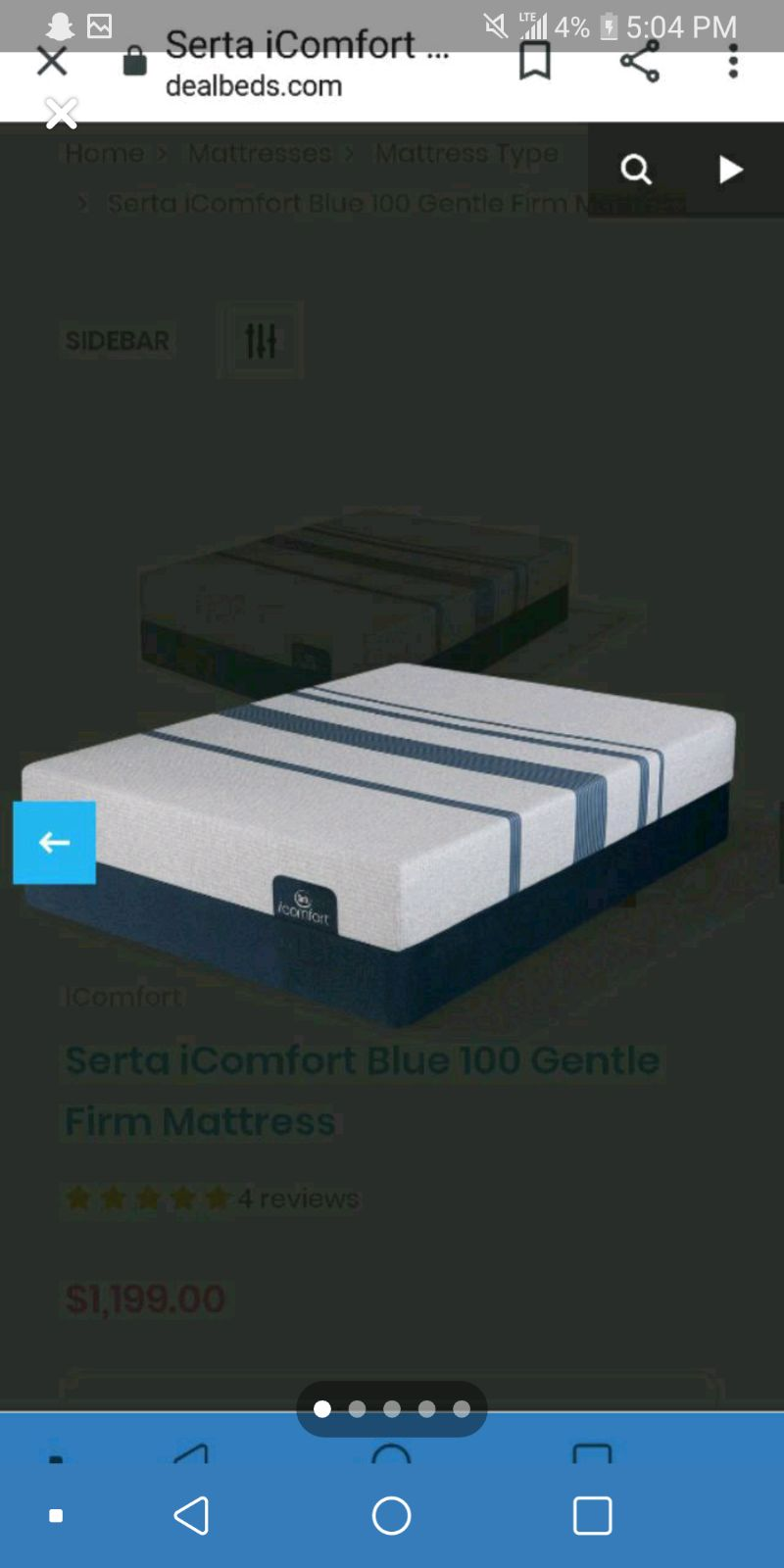 Serta iComfort King Memory Foam Mattress