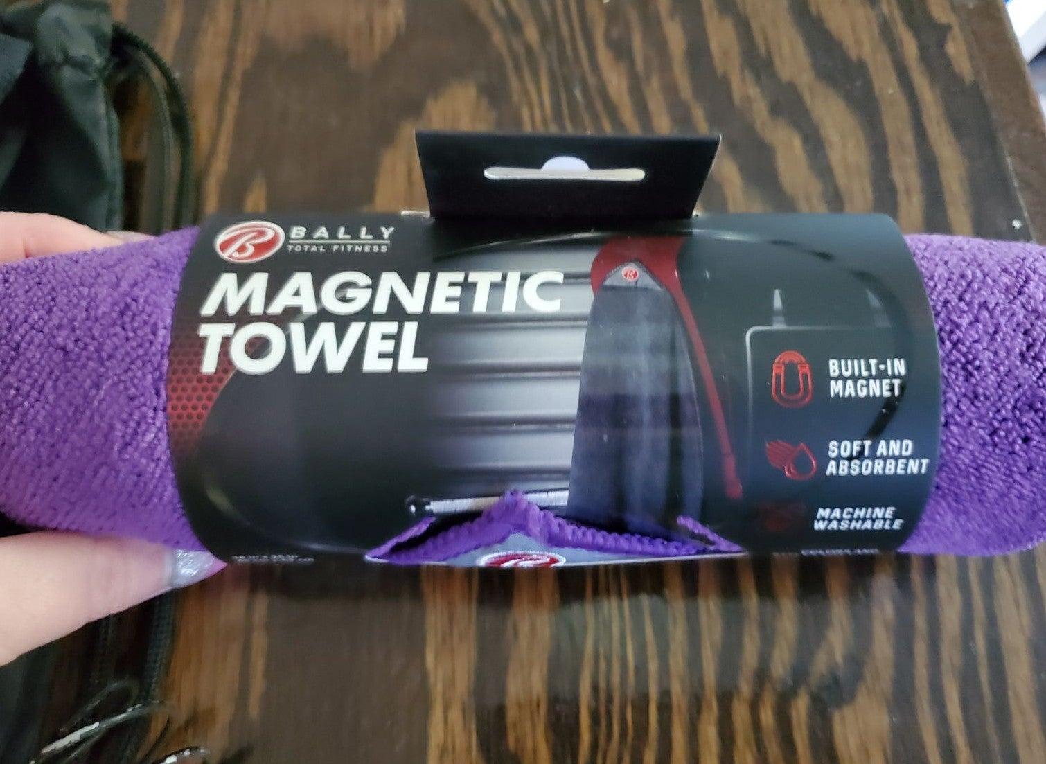 bally fitness purple active towel