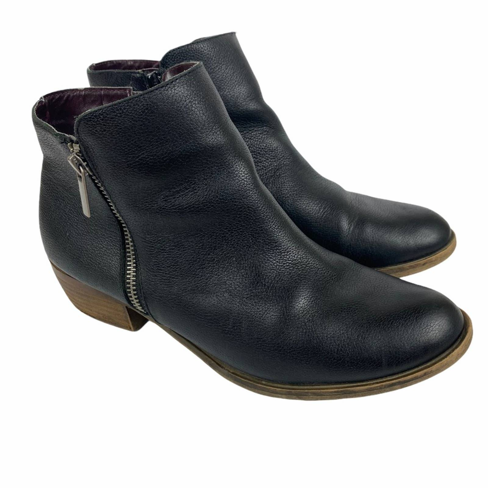 Kensie Ghita Ankle Boots Black Leather