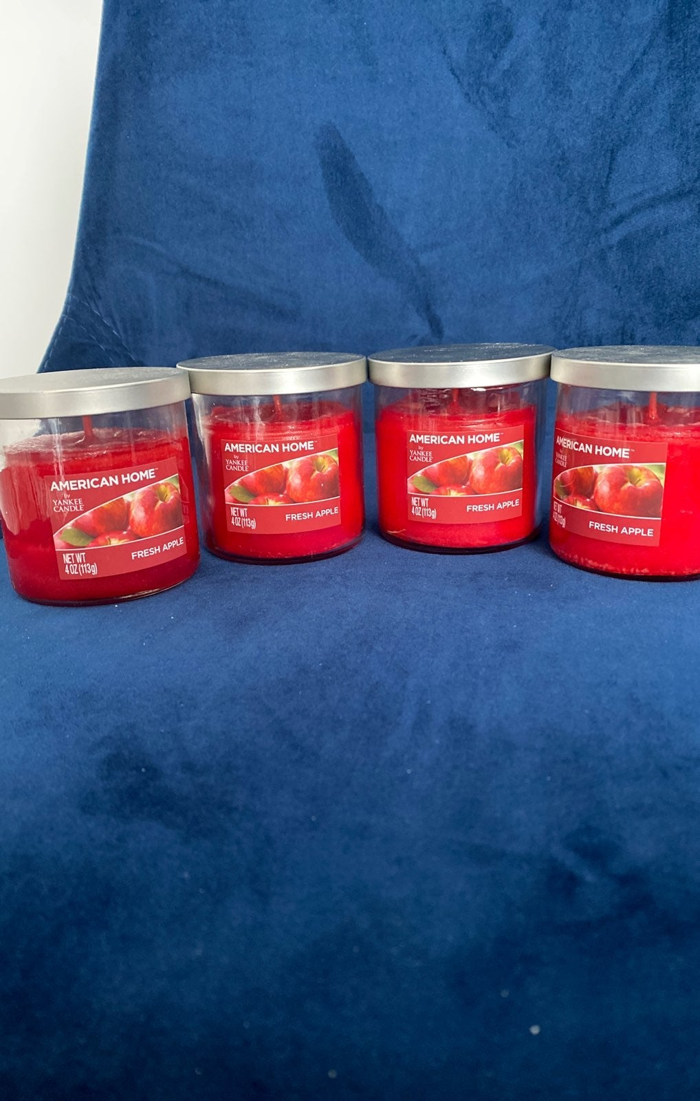 Set of 4 Red Apple scented Yankee Candle